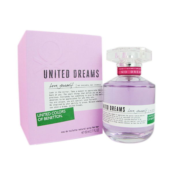 Benetton united dreams love yourself 2 7 edt sp women in for Benetton united dreams love yourself