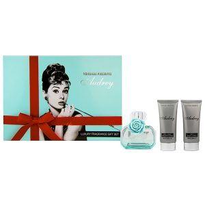 Audrey Hepburn Blue 3PC Perfume Gift Set for Women