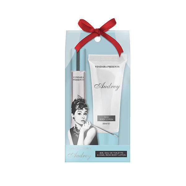 Audrey Hepburn Blue 2PC Perfume Mini Gift Set For Women